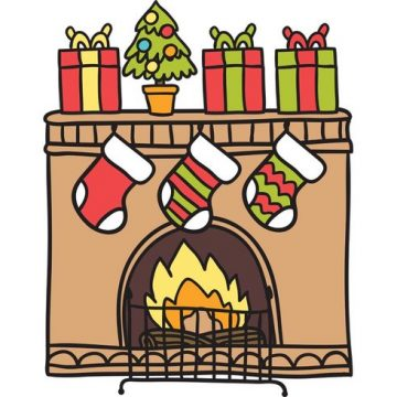 Free vector Free Christmas Fireplace Vector #34538