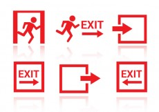 Free vector Free Emergency Exit Icons Vector #28830