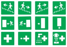 Free vector Free Emergency Exit Set Vector #28828