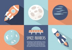 Free vector Free Flat Space Landscape Vector Background #30586