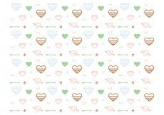 Free vector Free Heart Vector Pattern #2 #29647
