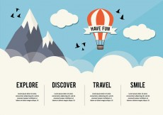 Free vector Free Hot Air Balloon Background #31535