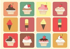 Free vector Free Muffin and Ice Cream Vectors #32007