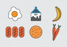 Free vector Free School Lunch Vector Icons #1 #28859