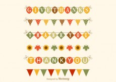 Free vector Free Thanksgiving Garland Vector Set #29809
