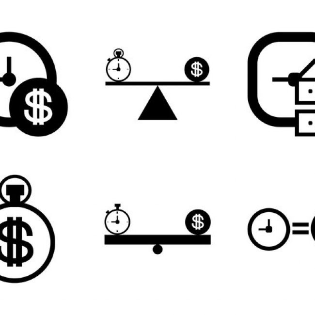 Free vector Free Time is Money Vector Icon #30776