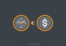Free vector Free Time Is Money Vector Illustration #30726