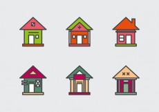 Free vector Free Townhomes Vector Icons #1 #30786