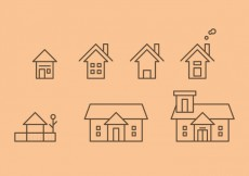 Free vector Free Townhomes Vector Icons #2 #28688