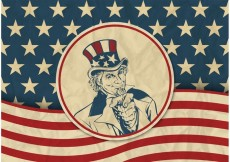 Free vector Free USA Vector Retro Background With Uncle Sam #32981