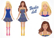 Free vector Free Vector Barbie Doll #33670
