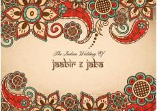 Free vector Free Vector Colorful Indian Wedding Card #33676