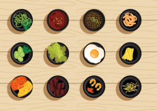 Free vector Free Vector Illustration Set of Korean Food #29539