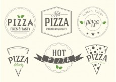Free vector Free Vector Pizza Labels #30431