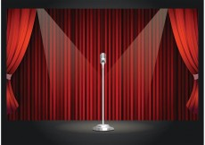Free vector Free Vector Retro Theater Stage #34392