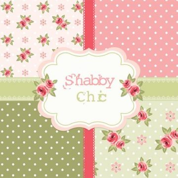 Free vector Free Vector Shabby Chic Roses Patterns #34396
