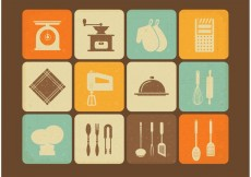 Free vector Free Vintage Kitchen Utensils Vector Icons #32967