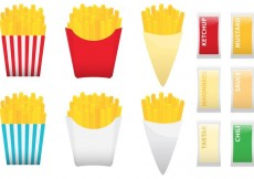 Free vector Fries With Condiments #33343