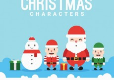 Free vector Funny christmas characters #34040