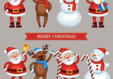 Free vector Funny christmas characters #30106