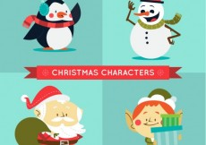 Free vector Funny christmas characters #29325