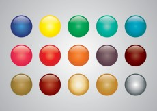 Free vector Glossy colored sphere vectors #31567