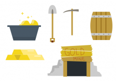 Free vector Gold Mine Vector Set #31672