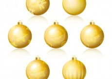Free vector Golden baubles collection #34605