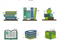 Free vector Green books pack #34447