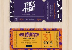 Free vector Halloween party tickets #34195