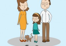 Free vector Hand drawn family #32602