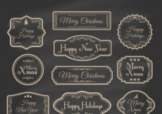 Free vector Hand drawn vintage christmas labels #32404
