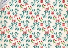 Free vector Hand painted floral christmas pattern #28665