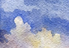 Free vector Hand painted watercolor blue sky #28767