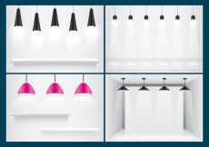Free vector Hanging Lights And Shelves #31834