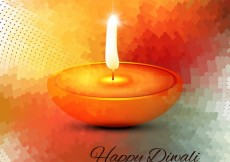 Free vector Happy diwali with candle #29149