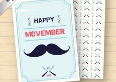 Free vector Happy movember card with pattern #32326