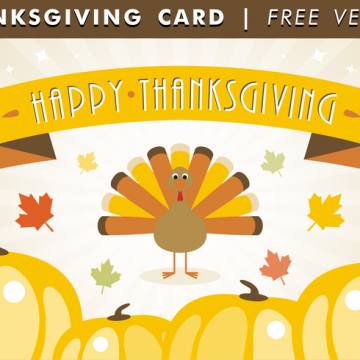 Free vector Happy Thanksgiving Card Free Vector #31820
