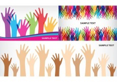 Free vector Helping Hands Banners #34354