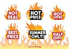 Free vector Hot Deal Badge Signs #30035