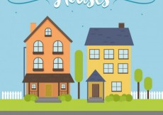 Free vector Houses illustration #32498