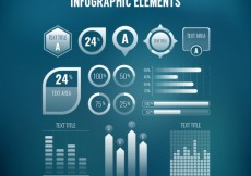 Free vector infographic element set #28637