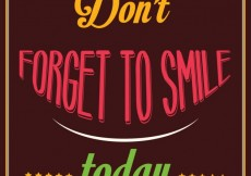 Free vector Inspirational quote Dont forget to smile today #33312
