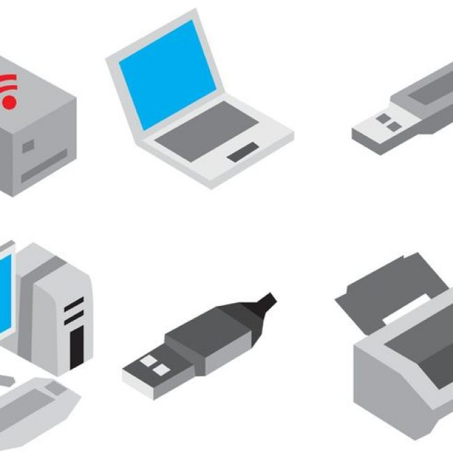 Free vector Isometric Device Vector Icons #32093