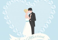 Free vector Just married couple #34529