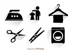 Free vector Laundry Black Icons #28760