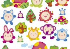 Free vector Little funny colorful monsters #33689