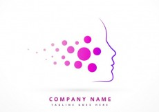 Free vector Logo with abstract purple face #31856