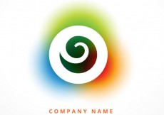 Free vector Logo with colorful swirl #32782