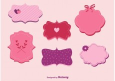 Free vector Love and Valentine Labels Vectors #30349